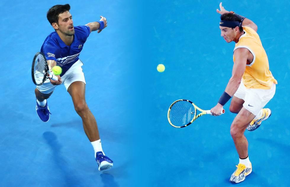 Comparativa Djokovic Nadal 2019