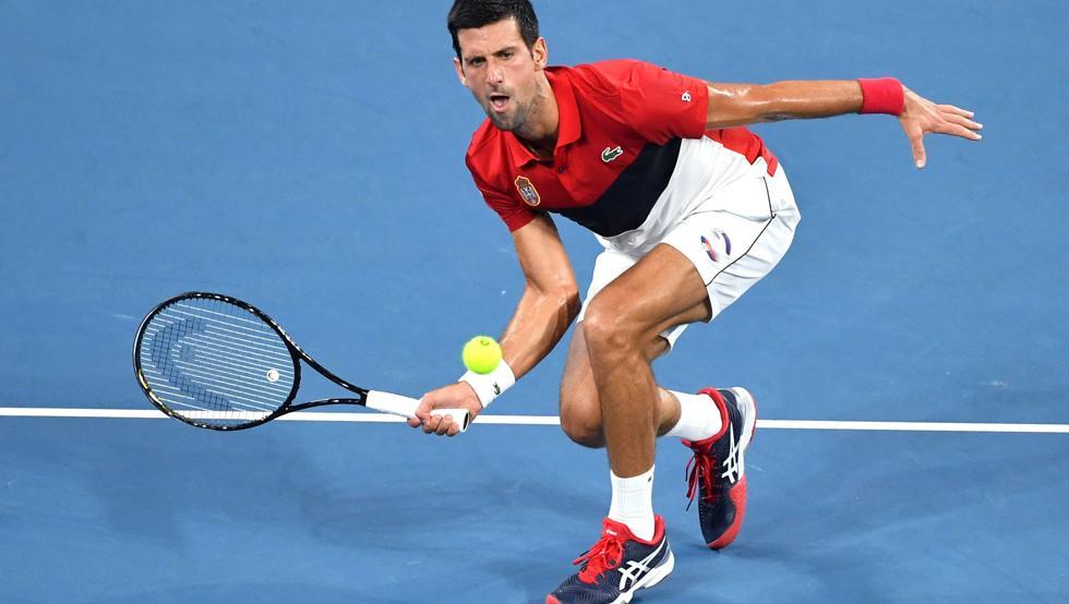 Djokovic Garin ATP Cup 2020