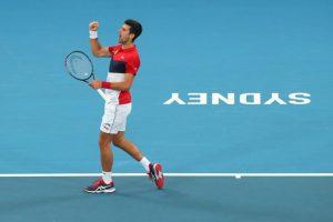 Djokovic Medvedev ATP Cup 2020