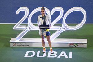 Halep Rybakina WTA Dubai 2020