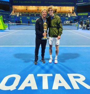 Fernando Vicente y Andrey Rublev Qatar