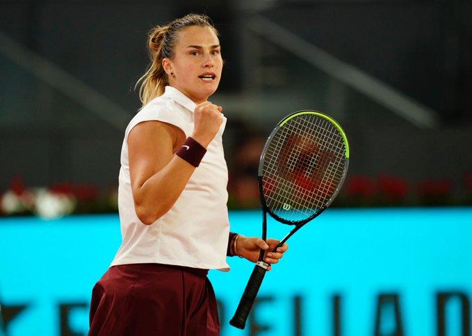 Sabalenka Pavlyuchenkova WTA Madrid