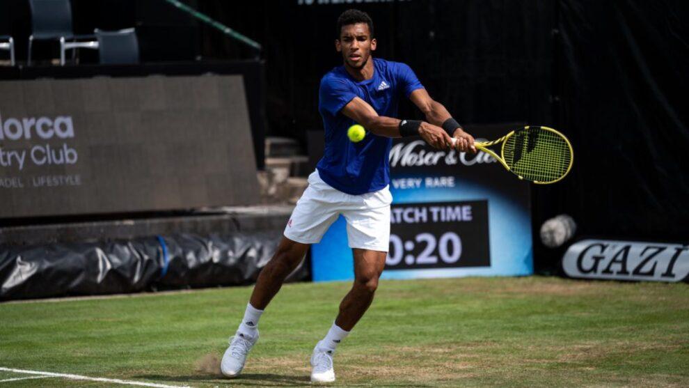 Federer Auger Aliassime ATP Halle