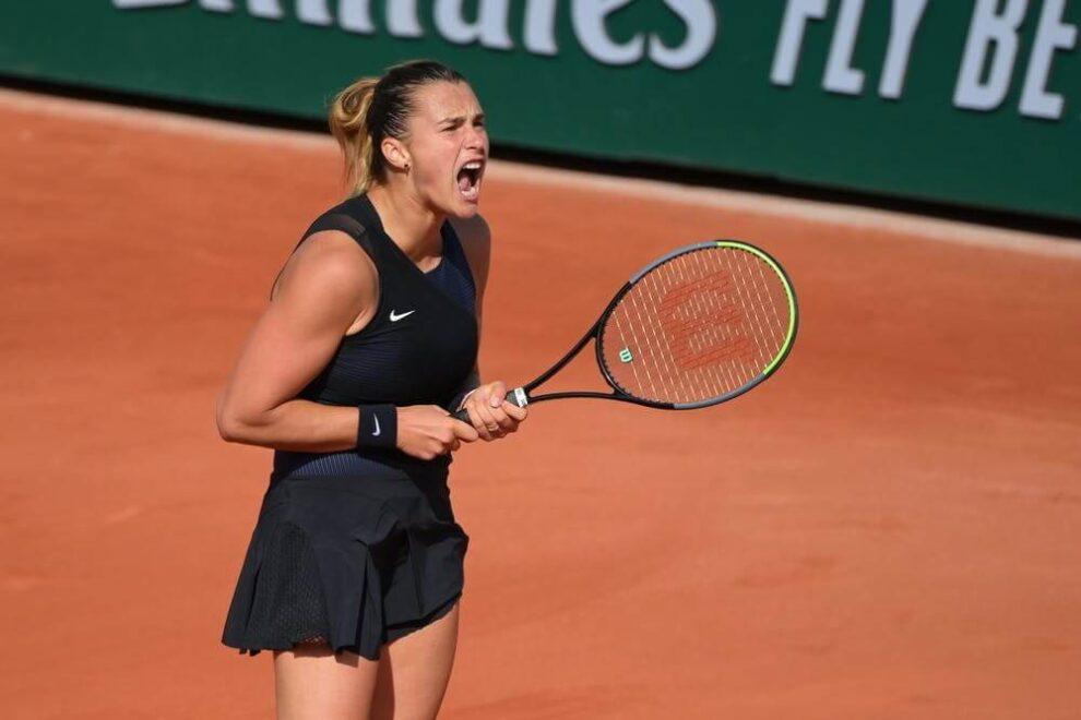 Sabalenka Sasnovich Roland Garros