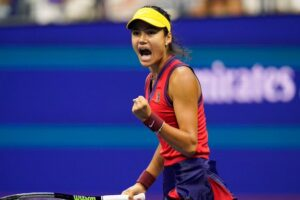 Raducanu Sakkari US Open